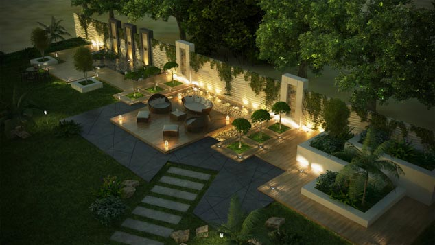 Kozman architects home for Landscape villa design
